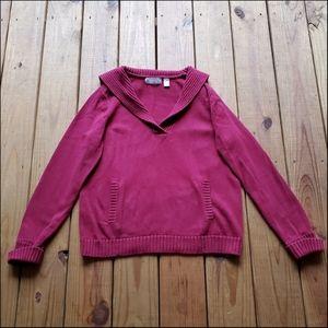 Liz Claiborne XL cranberry red cozy sweater